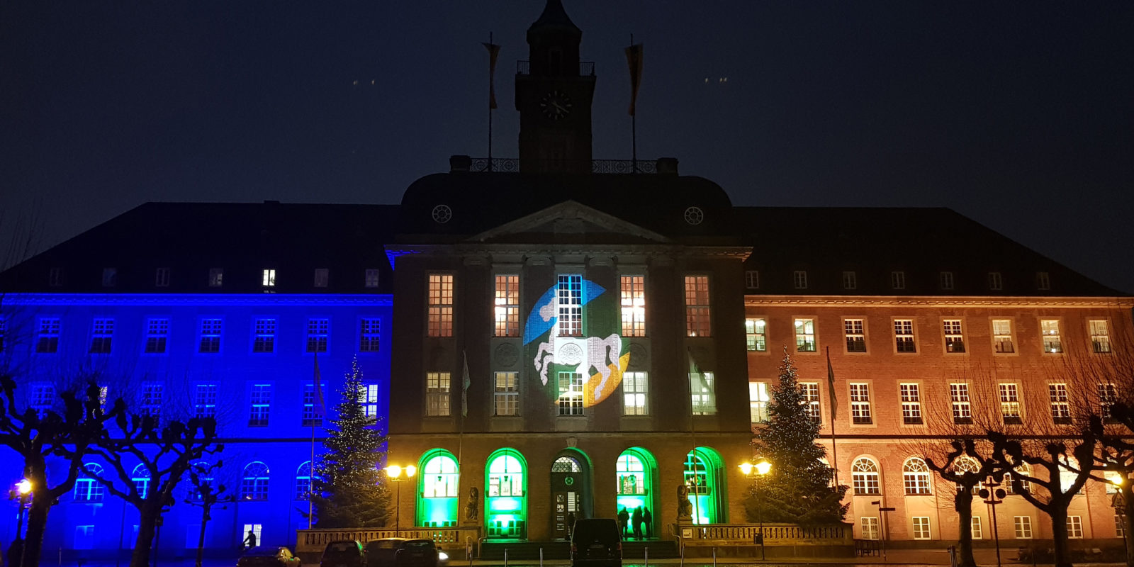 Rathaus Herne indirekt beleuchtet